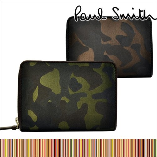 Paul Smith ポールスミス カモフラ メンズ レディース 二つ折り財布 迷彩柄 アーミー柄 (カーキアーミー 833-932 P783 390)