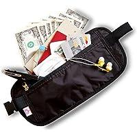セキュリティポーチ スキミング防止 ウェスト 薄型 旅行 パスポートケース 旅行便利グッズ
