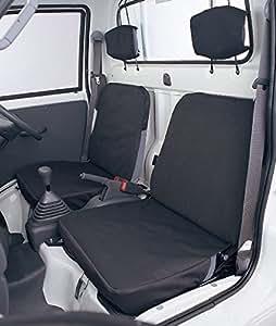 BONFORM ( ボンフォーム ) 防水シートカバーバケットタイプ ドライビングシート 軽トラック用 前席2枚セット ブラック 2140-32BK