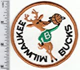Vintage Early 1970s NBA Milwaukee Bucks 3 Patch (sew on) Throwback Old Logo by National