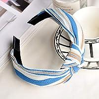 AKDSteel Women Girls Headband Top Knot Turban Headband Cross Bandage Scarf Hair Accessories 24#