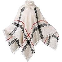 HITOP Women's Pullover Sweater, Boho Loose Tassel Cardigan Turtleneck Jumper Knit Oversized Sweater Tops for Women