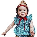 [ポクトロン] ベビー 赤ちゃん ノースリーブ かっこいい 可愛い ファッション フラワープリント ローラル シャム人 背中をさらす ロンパース