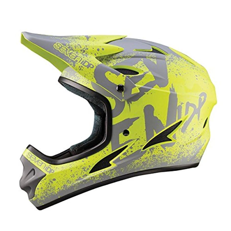 文房具冗談でシェル7プロテクション7iDP 2018 M1サイクリングヘルメット - 7706(グラデーションマットライム/グレー - L(58-60CM))