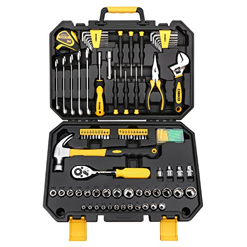 DEKO ホームツールセット ガレージツールセット 日曜大工 家具組み立て 軽量化常備工具pcs128 ツールキット 工具セット 工具キット 128点組