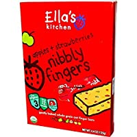 Ella's Kitchen - Nibbly Fingers - Strawberries & Apples - 5x25g