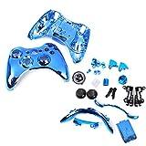 【ノーブランド品】Xbox 360用 コントローラカバー ケース 交換用 保護カバー 全4色 ブルー