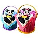 ディズニー オムツ 付 名入れ刺繍 オムニウッティ ブルー ( 手提げ袋付 ) ミッキーマウス パンパースパンツ Lサイズ バスタオル フェイスタオル ぬいぐるみ 付 おむつケーキ 出産祝い