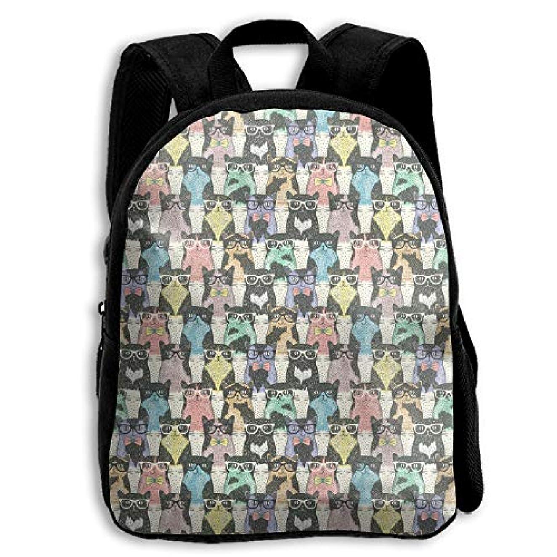 スクワイア通行料金ランドマークキッズ リュックサック バックパック キッズバッグ 子供用のバッグ キッズリュック 学生 かわいい動物柄 猫 アウトドア 通学 ハイキング 遠足