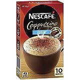 NESCAFÉ Skim Cappuccino Coffee Sachets 10 Pack, Chocolate Shaker Included