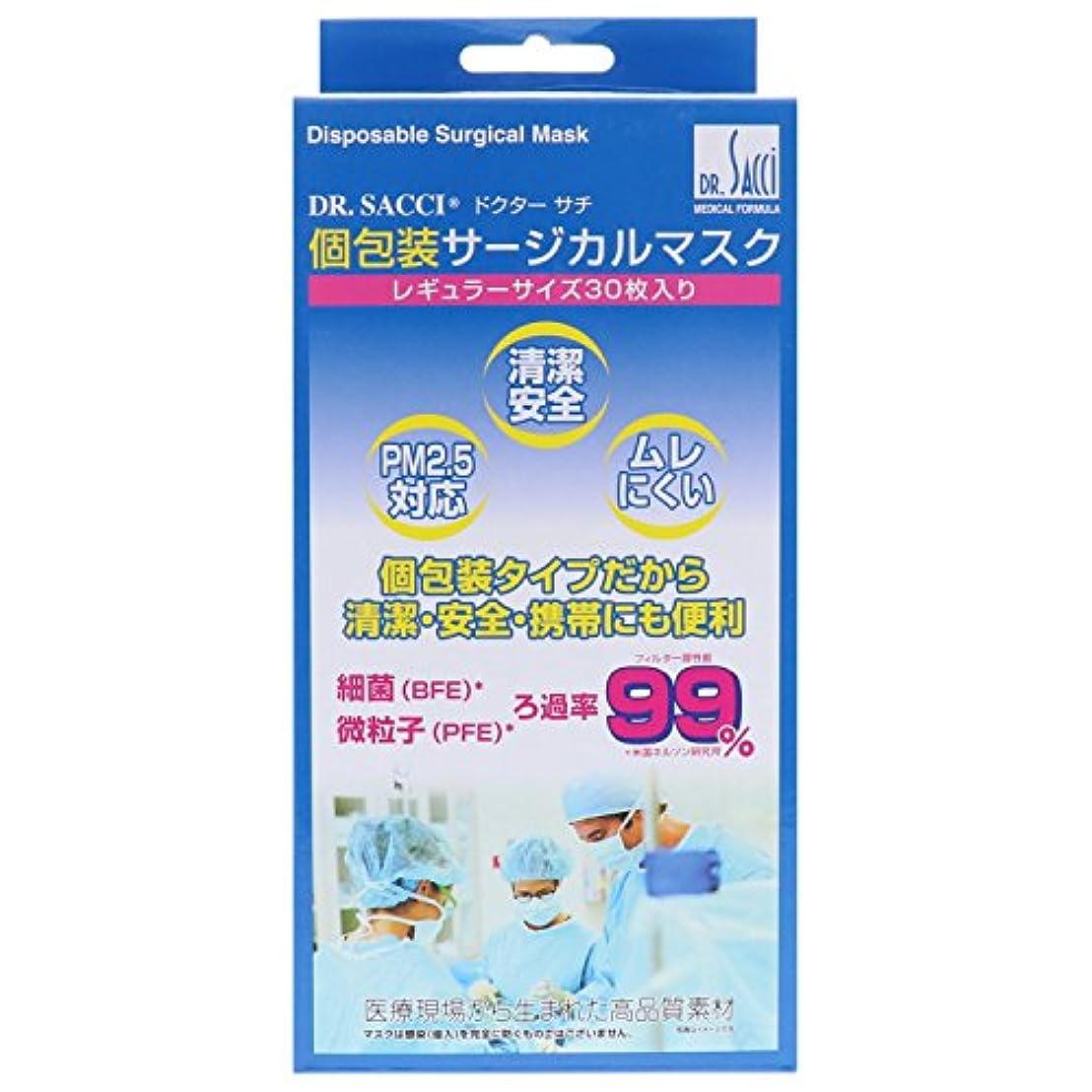 アコードナット利得(PM2.5対応)Drサチ個包装マスク 30枚入 ふつうサイズ