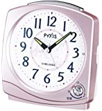 SEIKO CLOCK(セイコークロック) アナログ目覚まし時計 メロディアラーム(小鳥のさえずり) ピンクNQ707P