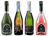 【Amazon.co.jp限定】シャンパン製法で造られるフランス産絶品スパークリングワイン4本セット(辛口3本+甘口1本) 750mlx4