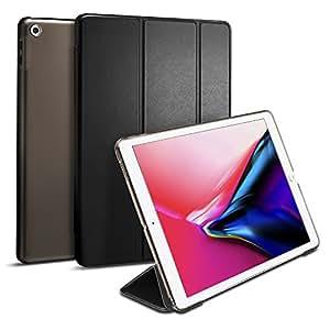 【Spigen】 タブレットケース Apple iPad 9.7 ケース 2018 / 2017 対応 三つ折 スタンド オートスリープ 機能 高級PUレザー 2018年 新型/2017年 スマートフォールド 053CS21983 (ブラック)