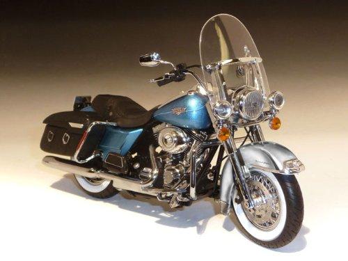ダイキャスト バイク 2011 ハーレーダビッドソン FLHRC Road King Classic ブルー 1/12