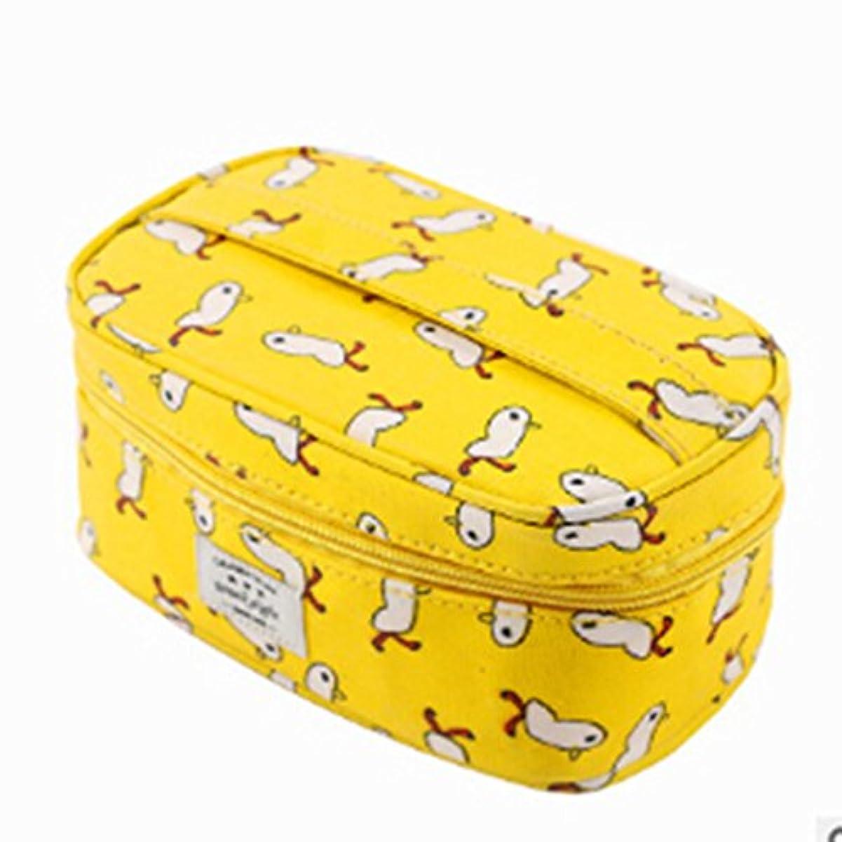 コンパイル規模横たわるMARUIKAO メイクケース 旅行用化粧ポーチ コスメバッグ 化粧品入れ トラベル化粧ポーチ 可愛い ゴールデンイエロー