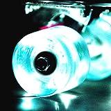 LED スケートボード ウィール Skateboard Wheels 59x45mm 4個セット(ホワイト)【Wonnv】