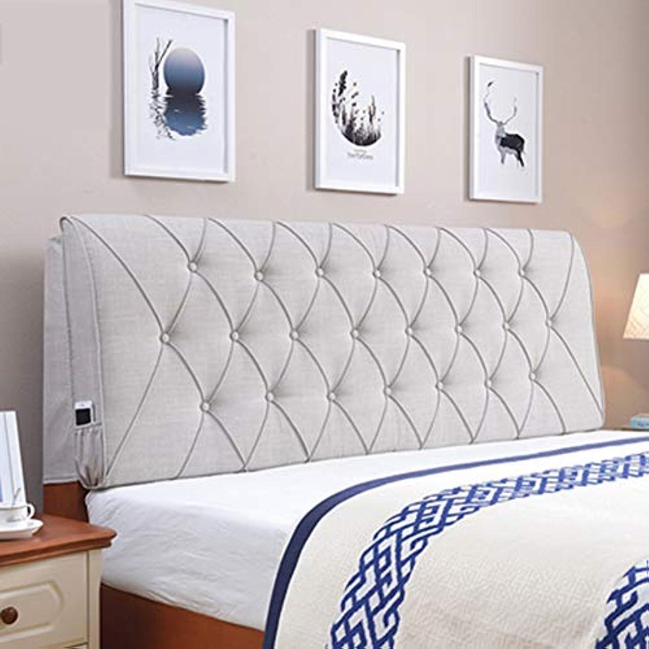エキス硫黄詳細にヘッドボードバッククッション、枕枕、リネン生地、腰椎クッション、通気性、リムーバブルと洗えます,160*60cm