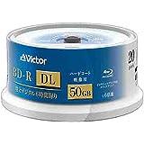JVC 録画用 BD-R DL 1-6倍速 50GB 20枚【インクジェットプリンタ対応】BV-R260L20W