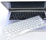 日本語 キーボードカバー Mac Book Air Pro Retina 13 15インチ (白)
