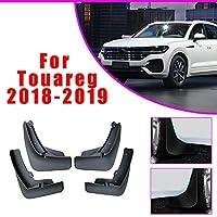 マッドガード/スプラッシュガード 適合 VOLKSWAGEN VW Touareg 2018 2019 外装カスタム 専用設計 自動車フェンダー 泥除け プロテクター 前輪 後輪 左右 ※4ピース