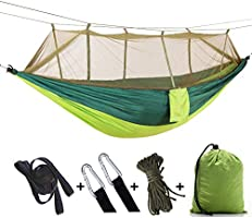 Apsung Portable Hammock Camping with Mosquito Net,Hammock Tree Straps and Carabiners, Easy Assembly, Portable Parachute...