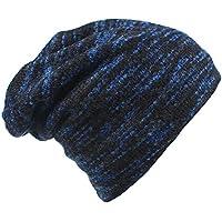 Magarrow Men's and Women's Winter Wool Warm Hat Beanie Cap Daily Slouchy Hat (Blue)