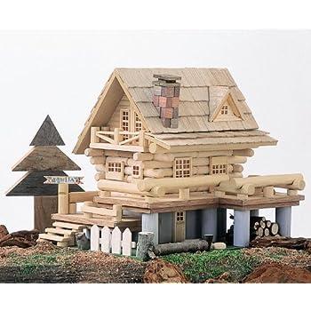 デッキのあるログハウス A20 ログハウス貯金箱 工作キット