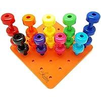 Lovoski 並べ替え  ペグ ボード  おもちゃ  子供  遊ぶ  30ペグ  色認識  ゲーム   学習 プレゼント