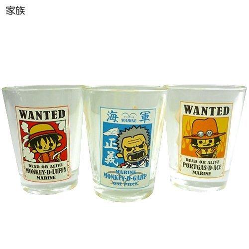 ワンピース×PansonWorks《手配書B》ショットグラス3個セット【家族】☆アニメキャラクター食器(お酒ミニグラス)通販☆