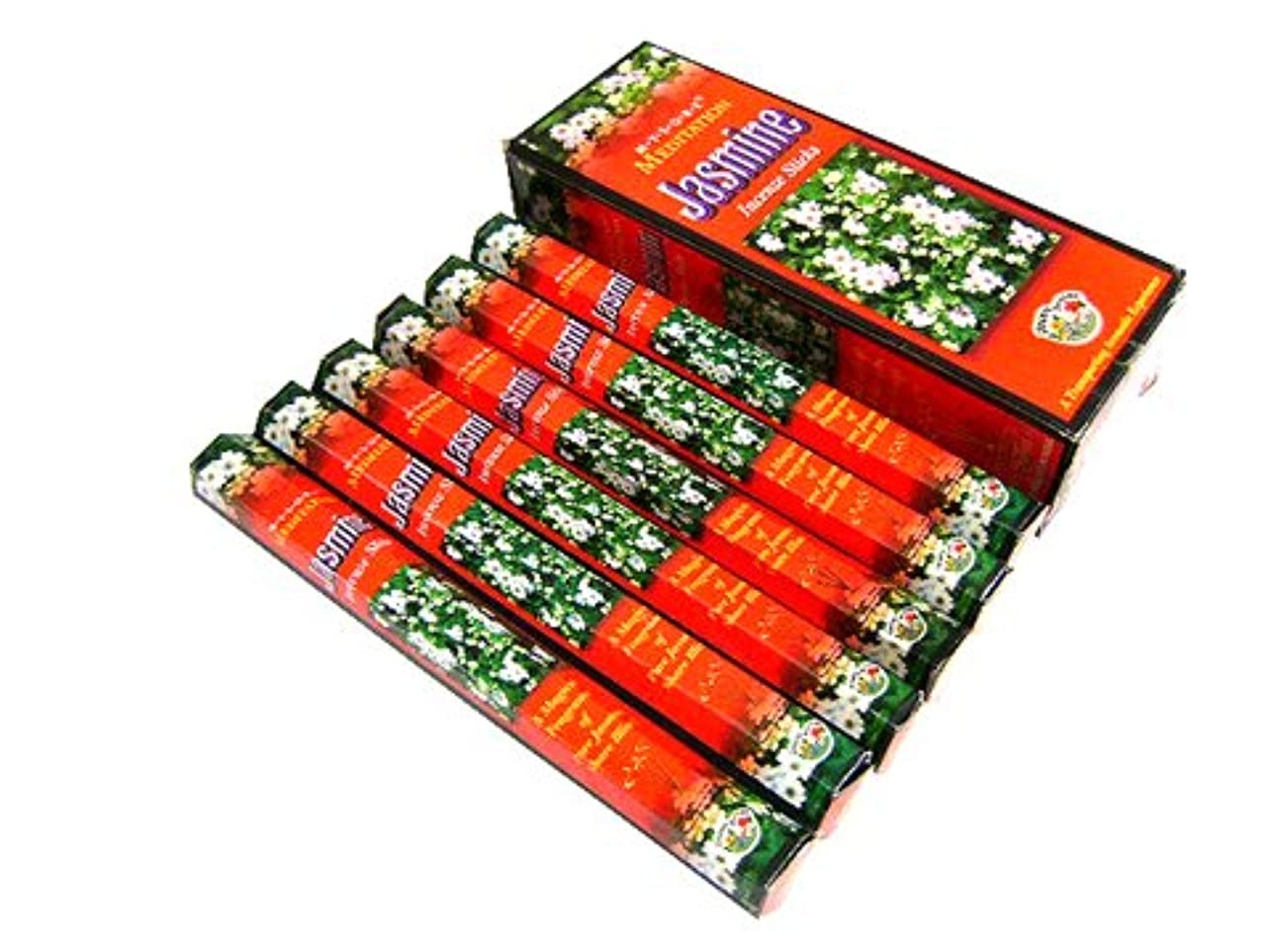 囲まれた保全ミントMYSORE BANDHU PERFUMERY WORKS JASMINE ジャスミン香 スティック 6箱セット