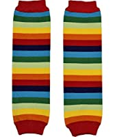 New Multicolor Stripes Baby Knee Pads Leg Warmer/Leggings Red Rainbow 80580-1