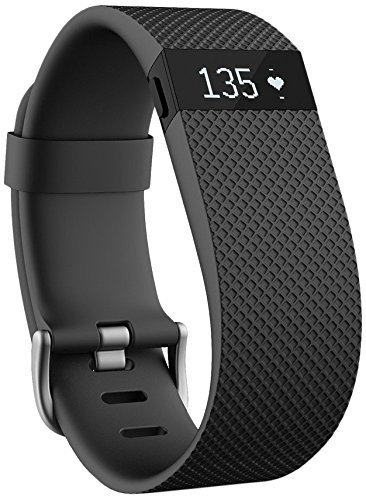 Fitbit Charge HR Wireless Activity Wristband, Black, Large [並行輸入品]