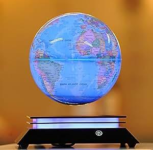 浮かぶ地球儀 浮遊・回転型の地球儀 青色LEDで美しくライトアップ xuan8