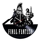 Final Fantasy Art Vinyl Record Wall Clock - Get Unique Bedroom or livingroom Wall Decor - Gift Ideas for Boys and Girls Perfect Element of The Interior Unique Modern Art