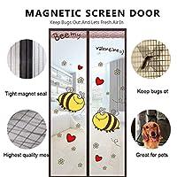 ガラススライドドア、アンチモスキートフック&スライドガラス用の磁気スクリーンドアループタフで耐久性のある取り外し可能な超薄型A 95 x 220 cm(37 x 87インチ) (Color : B, Size : 90x220cm(35x87inch))