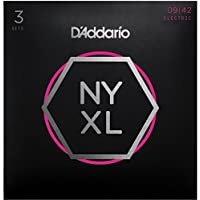 D'Addario ダダリオ エレキギター弦 NYXL Super Light .009-.042 NYXL0942-3P 3set入りパック 【国内正規品】