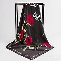 "35"" 90cm Large Women's Satin Square Silk Scarf,Silk Feeling Hair Scarf Wrap Headscarf,Silk Scarves for women"