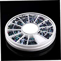 Bonni 300ピース3D宝石クリスタルネイルアートステッカーのヒントクリスタルグリッターラインストーンDIYの装飾マニキュア+ホイールターンテーブル