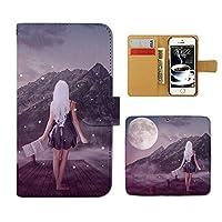 (ティアラ) Tiara ZenFone 4 Pro ZS551KL スマホケース 手帳型 sexy 手帳ケース カバー セクシー SEXY 美女 幻想 月 F0274040098301