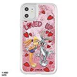 iPhone 11 ケース iPhone XR カバー ルーニー・テューンズ ラメが流れる 動く [ キラキラ ラメ グリッター ] 耐衝撃 衝撃吸収 [ PC TPU ソフト ハイブリッド ] かわいい おしゃれ LOVE