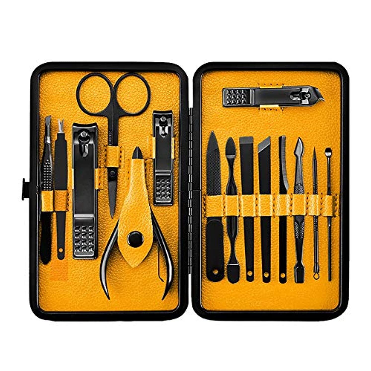 砂利黒板高尚なRETYLY 15ピース、プロフェッショナル、マニキュア、ステンレス鋼製ネイルのクリッパー、爪切り、はさみのセット、キット、マニキュアのセット、ネイルのツール、ネイルアートのツール