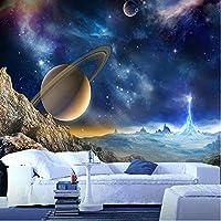 Wuyyii カスタム3D壁画壁紙用壁宇宙惑星アメージング天文学世界写真ウォールペーパー用リビングルームソファ背景-120X100Cm