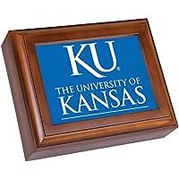 Cottage Garden University of Kansas木目調デジタルFight Song Musicボックス/ Valet WatchボックスPlays Im A Jayhawk