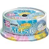 TDK 音楽用CD-R 80分 インクジェットプリンタ対応(5色カラーミックス・ワイド印刷仕様) 30枚スピンドル CD-RDE80CPMX30PS