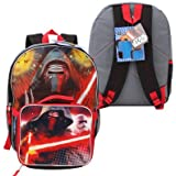 """Star Wars Kylo Backpack w/Lunch Bag -16"""" H"""