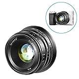 Neewer 25mm f/1.8手動フォーカスプライム固定レンズ 全金属構造 Sony E-マウントデジタルミラーレスカメラA6500、A6300、A6100、A5000、A5100、A6000、NEX 3 NEX 3N NEX 5 NEX 5R NEX 6 7に対応 (黒)
