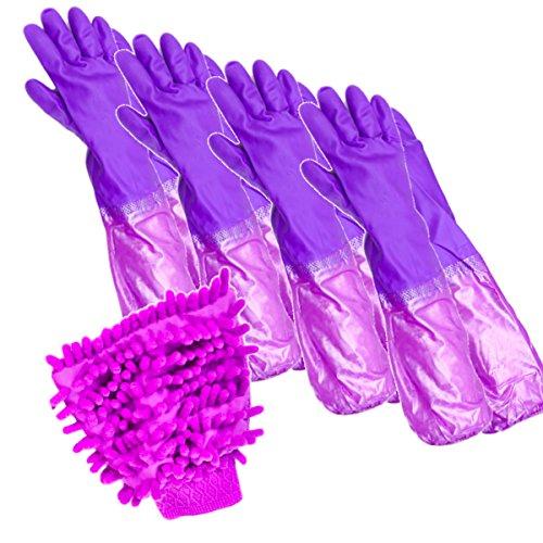 [해외](니쿠) NIQUE 긴 고무 장갑 4 조 어긋나 빠짐 방지 팔꿈치에 고무들이 걸레있는 세차 청소 설거지/(NIKE) NIQUE long rubber gloves 4 pairs misplacement prevention elbow rubber with mopping car wash cleaning wash