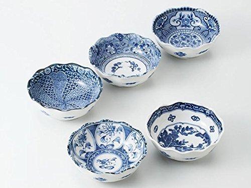 藍染丸 中鉢揃 美濃焼