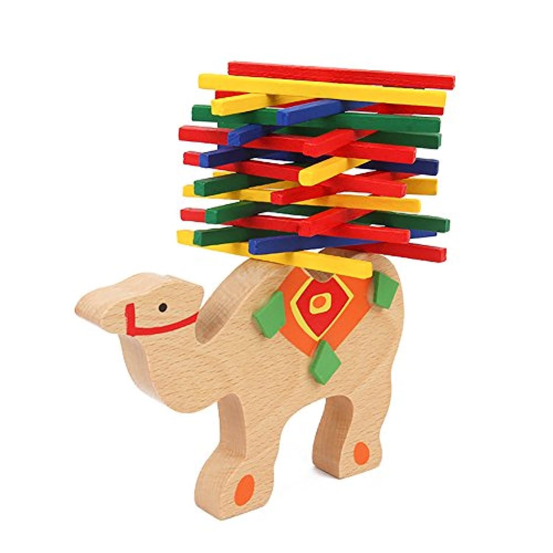 biowowキャメルバランスビームStackingブロック教育玩具木製ビルディングブロックテーブルゲームキッズ教育ギフト